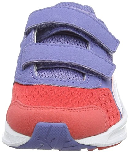 Puma Descendant v3 V Kids, Sneakers basses mixte enfant Rouge - Rot (cayenne-bleached denim-cayenne 02)
