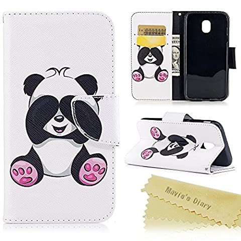 Galaxy J3 2017 Case / J330 Case - Mavis's Diary Wallet Flip Case PU Leather Case Shockproof with Inner Rubber Back Holder Magnetic Closure Stand Stylish Prints Protective Cover for Samsung Galaxy J3 2017 Model - Lady