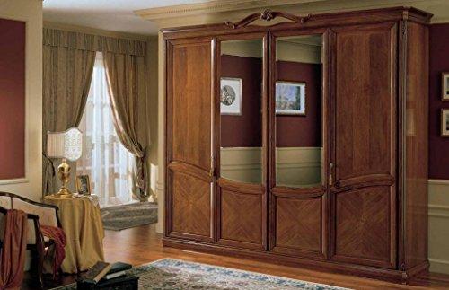 Dafnedesign.com – Armadio 4 ante con specchio, colore legno ...