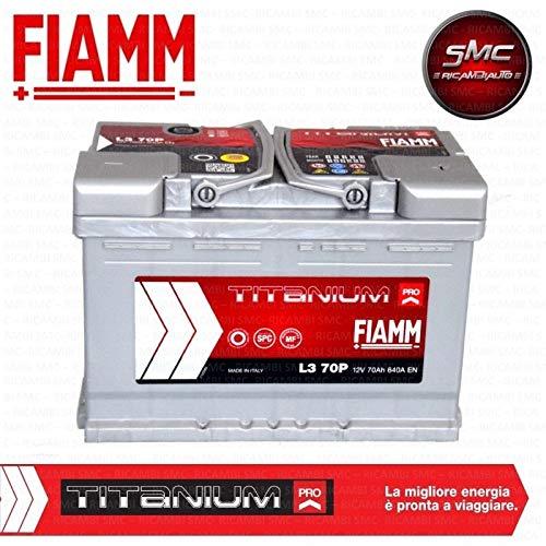 Fiamm Titanium L370, batteria per automobile, 70Ah, 640A, polo positivo a dest