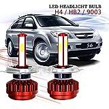LED–lampada riflettore 4pagine in un kit di conversione con ventola, 8000lm 6000K ultrahellen Cool White CREE auto lampadine per la maggior parte delle auto–Auto (Confezione da 2)