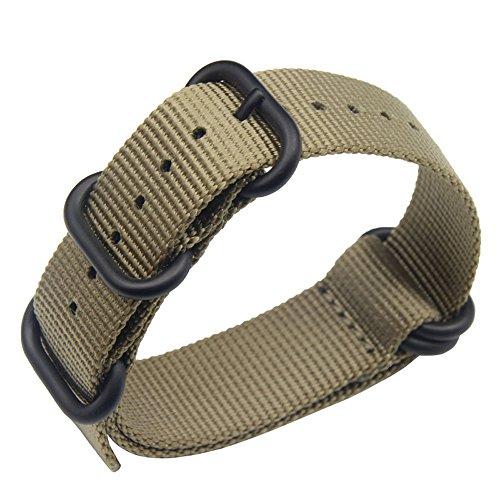 15ad1aefb de gama alta de lujo de estilo de color caqui 18-24mm la NATO nylon  balístico banda de reloj de reemplazo de la correa de los hombres trenzado  marca AUTULET