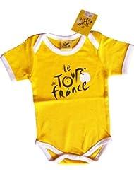 """Body Bébé Tour de France - Cyclisme vélo - Collection officielle - Vêtement Puericulture nourrisson - modèle """" Maillot Jaune """""""