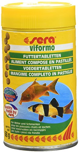 sera 00540 viformo Tabletten 100 ml  - Tablettenfutter für gründelnde Welse und Schmerlen