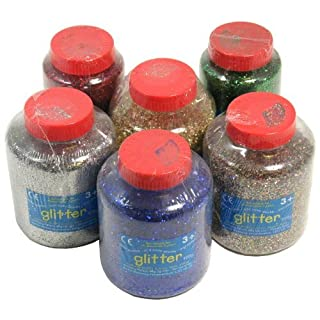 Bumper Art & Craft Glitter Flakes Set 6x400g Tubs by Anthony Peters