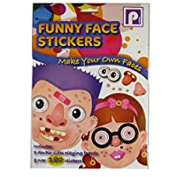 Funny Face Stickers - Make Your Own Faces - 6 Play Cards and Stickers