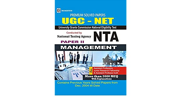 Buy UGC NET NTA MANAGEMENT SOLVED Book Online at Low Prices