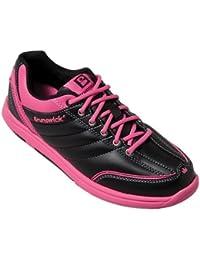 Brunswick Diamond - Zapatos para bolera de mujer, color negro y rosa Negro y rosa Talla:41