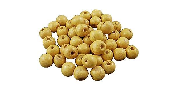 100stk Bunte Kugeln Schmuck Basteln Deco Wooden Beads H128 Holzperlen 14mm