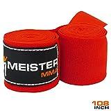 """Meister-274,32 cm (108"""") cotone elasticizzato-Bende per mani MMA & per boxe, 1 paio"""