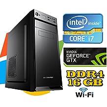PC DESKTOP FISSO Intel i7-7700 4.2GHZ / GTX1050 2GB/ RAM DDR4/ HD 1TB / WI-FI / windows 7/10