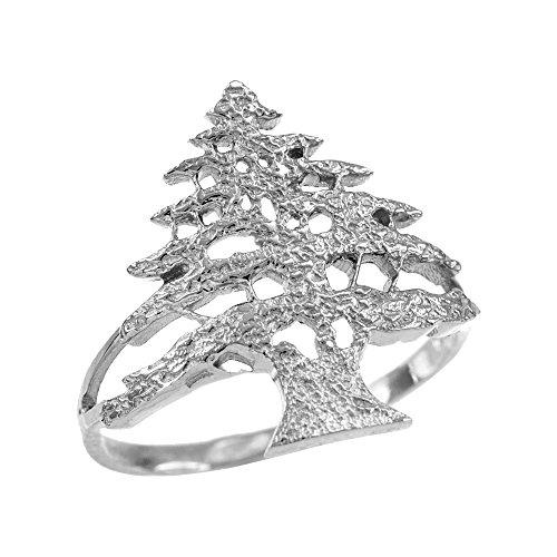 damen-ring-925-sterling-silber-texturierte-band-libanesische-zeder