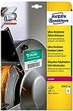 Avery Zweckform L7913-10 Ultra-Resistente Folien-Etiketten (A4, 120 Stück, 99,1 x 42,3 mm) 10 Blatt weiß