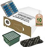 Spar Angebot 10 weiße Staubsaugerbeutel Filter Set und Duft blau ocean passend für Vorwerk Kobold VK 130 , Kobold VK 131 und 131 SC mit EB 350 / EB 351