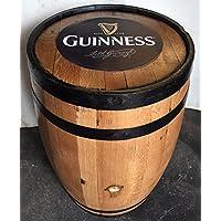 Cheeky Chicks - Tavolo da giardino a forma di botte Guinness originale, corpo in solido in legno di quercia
