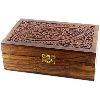 Aromathèque- Coffret en bois de Rose des Indes pour 24 huiles essentielles