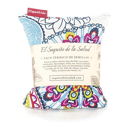 Borsa termica con semi, agli aromi di lavanda, zagara o rosmarino, in tessuto floreale, multicolore moderno 23_cm multicolore