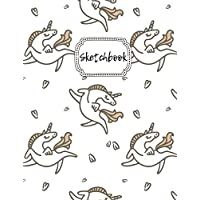 """Sketchbook: Dancing Unicorn Blank Drawing Book For Girls & Boys 