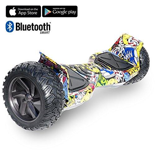 "Cool&Fun Challenger Basic 8,5\"" Hoverboard SUV App Elektro Scooter E-Balance E-Skateboard Elektroroller (Hiphop)"
