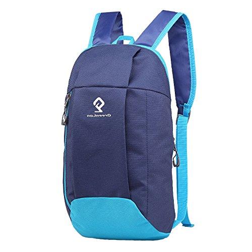greenlan Outdoor Sports 10L Ultralight Casual Scuola Zaino Borsa da viaggio zaino da trekking, Gl-802, Navy, 10 litri Navy