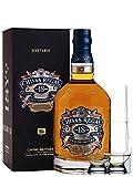 Chivas Regal 18 Jahre Gold Signature Blended Scotch Whisky 0,7 Liter + 2 Glencairn Gläser + Einwegpipette 1 Stück