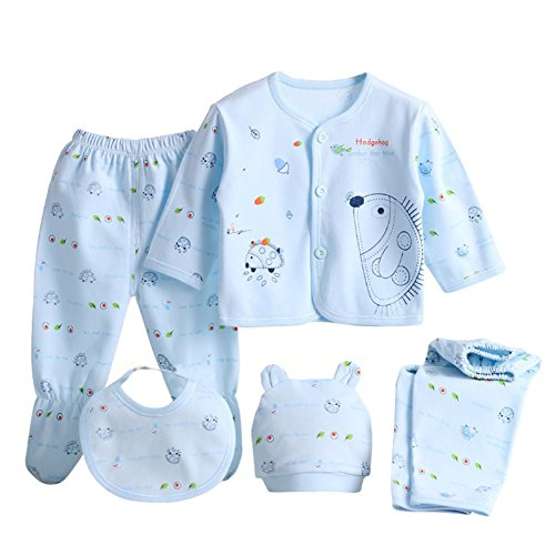 nes Baby Baumwollt Shirt + Hosen + Hut Jungen Mädchen Satz ()