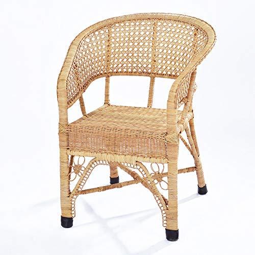 seeksungm Chair, Home Handmade rotin Armchair, Natural and Environmentally Friendly Leisure Chair, size 80 * 45 * 50 cm