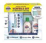 Sagrotan Desinfektion Vorteils-Set für unterwegs: 2in1 Tücher, Handgel, Desinfektionsspray und gratis Kosmetiktasche, Desinfektionsset