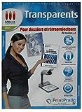 Transparents pour dossiers et rétroprojecteurs - Lot de 20 feuilles A4...
