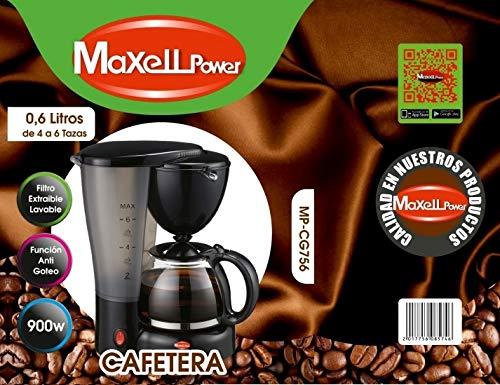 CAFETERA DE GOTEO ELECTRICA CAFE AMERICANO EXPRESS EXTRAIBLE 4 6 TAZAS 0,6L 900W