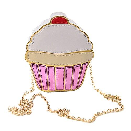 Rokoo Lustige Eiscreme-Kuchen-Tasche Kleine Crossbody Beutel für Frauen nette Geldbeutel -Handtaschen -Kette Messenger Bag Partei-Beutel Cake
