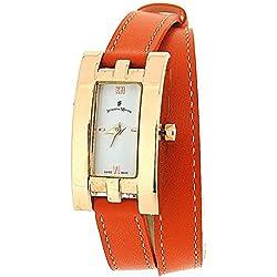 Jacques Du Manoir Ladies Rose Gold Tone Casing Orange Extra Long Multiwrap Watch