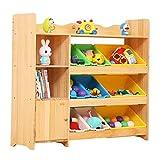 Baby Kindermöbel Möbel Wohnaccessoires Bücherregal aus Holz für Kinder Abstellraum für Kinderzimmer Bücherregal für Bücherregal Aufbewahrung für Babyzimmerregale Mutter organisiert den letzten Raum fü
