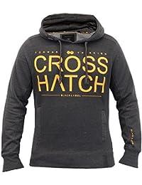 Hommes Sweatshirt Crosshatch Haut À Capuche Pull Pull-over Gym Décontracté Doublure Polaire Neuf