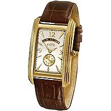 The Bradford Exchange - Velocidad y estilo - Reloj Aviador Escocés de hombre - Detalles bañados en oro y correa de cuero