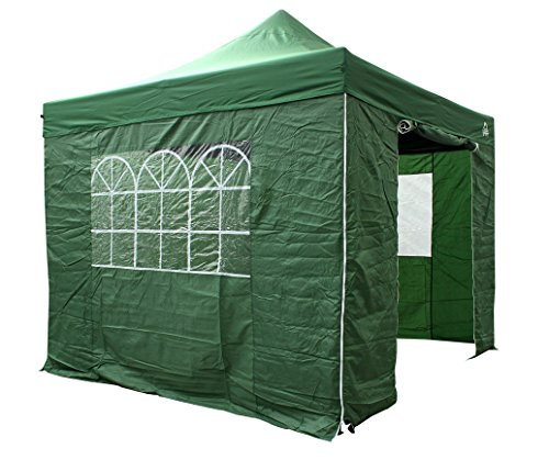 All Seasons Gazebos 3x3m pop up gazebo with sides in green