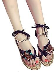 DM&Y 2017 la mode f¨¦minine cor¨¦enne fixe sandales orteil chaussures flip bracelet de perles de d¨¦coration florale