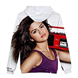 WYDHHLD Sweat à Capuche 3D Selena imprimé Gomez Sweat à Capuche Sweat-Shirts à Manches Longues col Rond Pull à Capuche avec de Grandes Poches pour Hommes Femmes