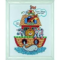 Tobin Kit de punto de cruz para nacimiento de bebé, diseño de Arca de Noé, multicolor