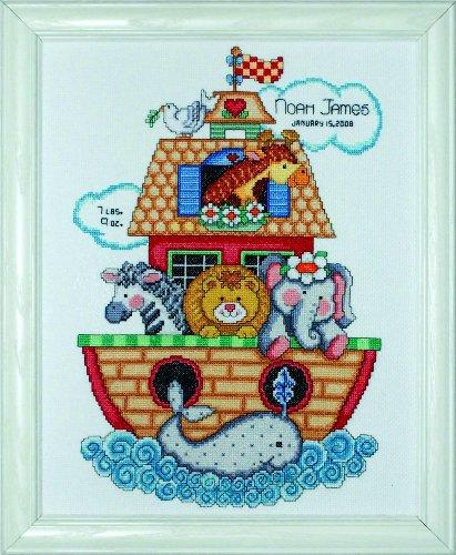 Tobin - Kit de punto de cruz para nacimiento de bebé, diseño de Arca de Noé, multicolor