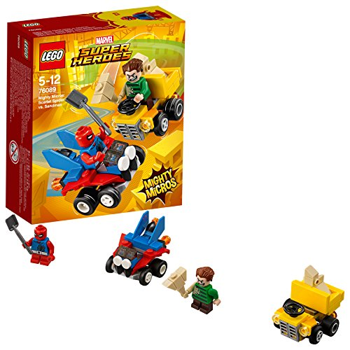 LEGO Marvel Super Heroes Mighty Micros: Spider-Man vs. Sandman 76089 Cooles Superheldenspielzeug für Kinder