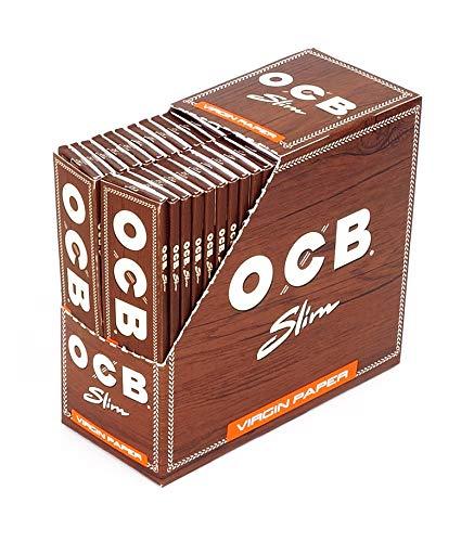 OCB 15437 Unbleached Slim Virgin Paper, langes Papier -