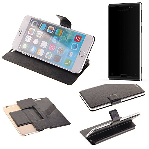 K-S-Trade Schutz Hülle für Lumigon T3 Schutzhülle Flip Cover Handy Wallet Case Slim Handyhülle bookstyle schwarz