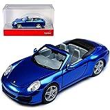 alles-meine.de GmbH Porsche 911 991 Carrera 2 Cabrio Blau Metallic Modell Ab 2012 Ab Facelift 2015 H0 1/87 Herpa Modell Auto