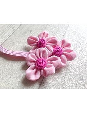 Rosa. Diadema Triple flores Teji
