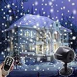 LED Projektionslampe, Weihnachtsbeleuchtung Projektor Außen Innen Wasserdicht Schnee Fallendes Licht Fernbedienung Schneefall Beleuchtung für Weihnachten Party Geburstag Hochzeit