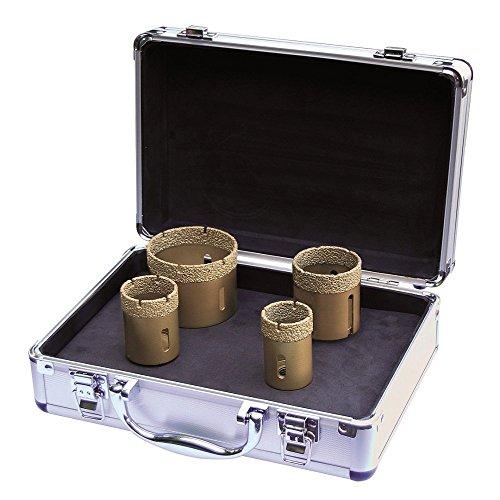 ADT Fliesenbohrkronen Set M14 4-teilig im Koffer für Granit, Fliesen und Feinsteinzeug