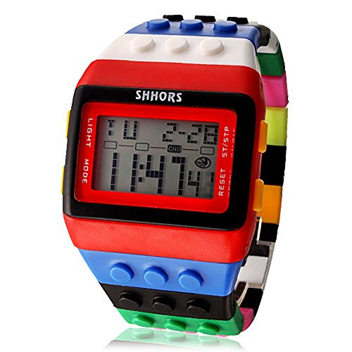 sbsghdx Unisex Arco Iris Lego Digital de reloj de pulser
