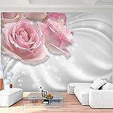 Fototapete Blumen Rosen 352 x 250 cm - Vlies Wand Tapete Wohnzimmer Schlafzimmer Büro Flur Dekoration Wandbilder XXL Moderne Wanddeko - 100% MADE IN GERMANY - 9357011c