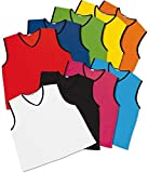 Pack of 10 x FOOTBALL NET BALL RUGBY HOCKEY CRICKET MESH TRAINING SPORTS BIBS Adult Sizes